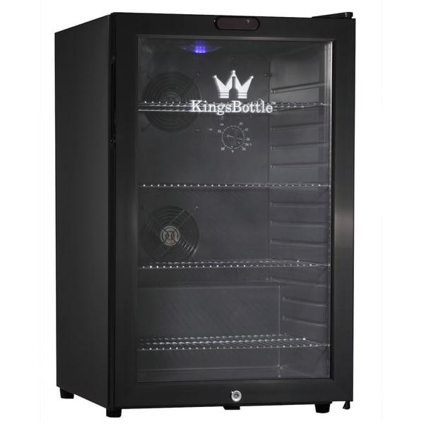 KingsBottle Black 66-can Compressor Mini Bar Fridge