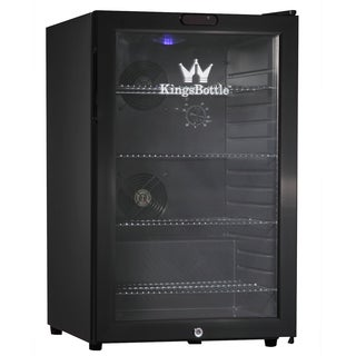 KingsBottle Black 66-can Compressor Mini Bar Fridge