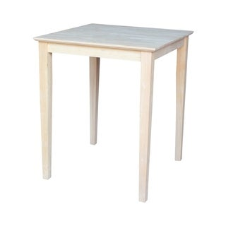 30-inch Unfinished Shaker Style Parawood Square Counter Height Dining Table