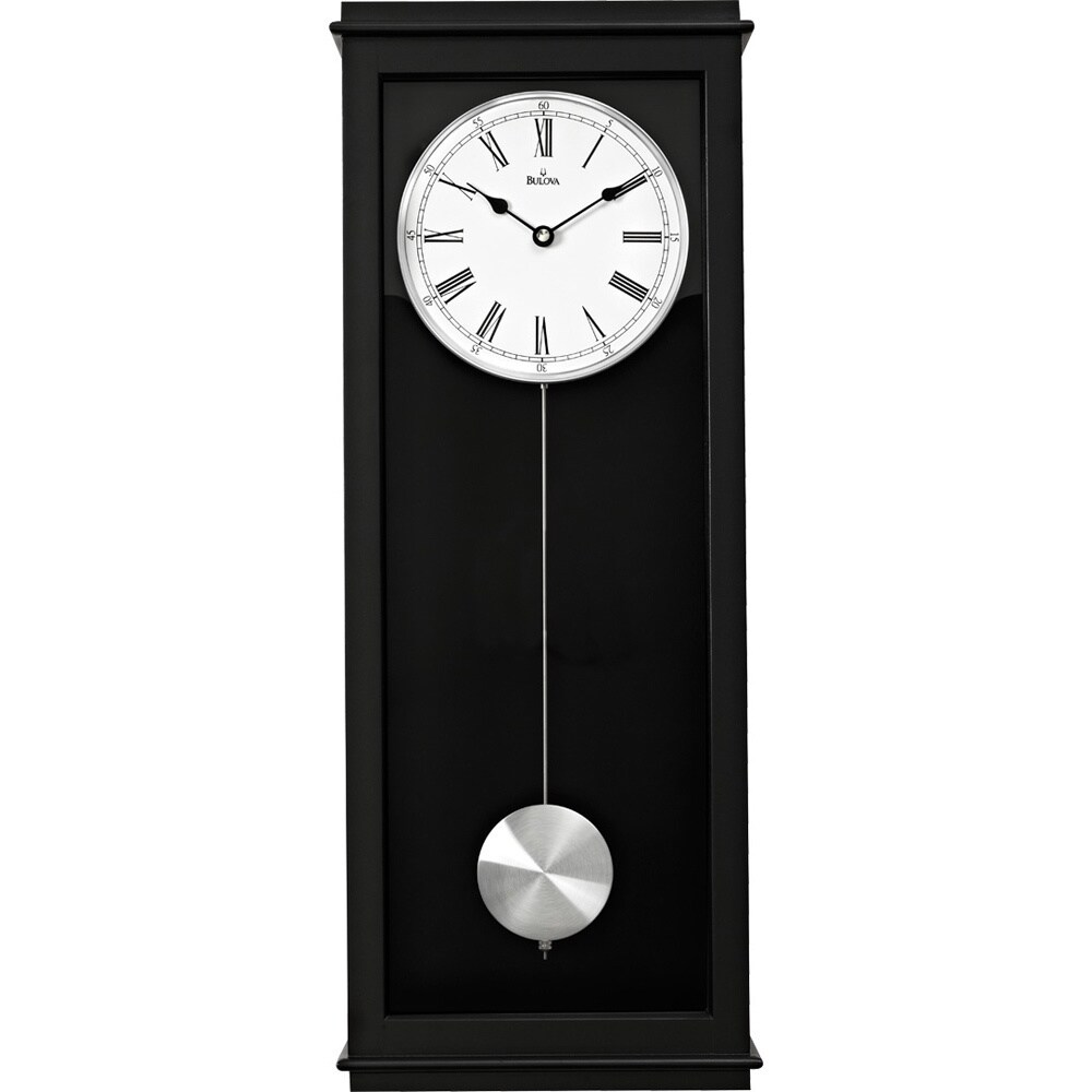 bulova vision chiming pendulum wall clock overstock