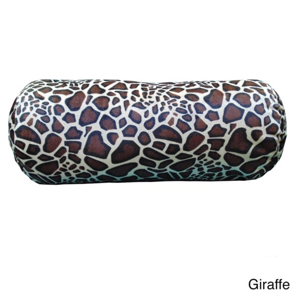 Plush Animal Print Bolster