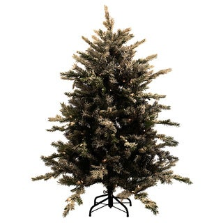 4.5-foot Pre-lit Flocked Northern Tree