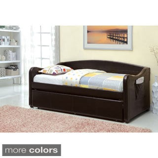 Galway Leatherette Platform Daybed with Twin Trundle