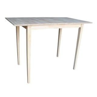 32-inch Wide Unfinished Shaker Style Parawood Bar Height Dining Table with Butterfly Extension