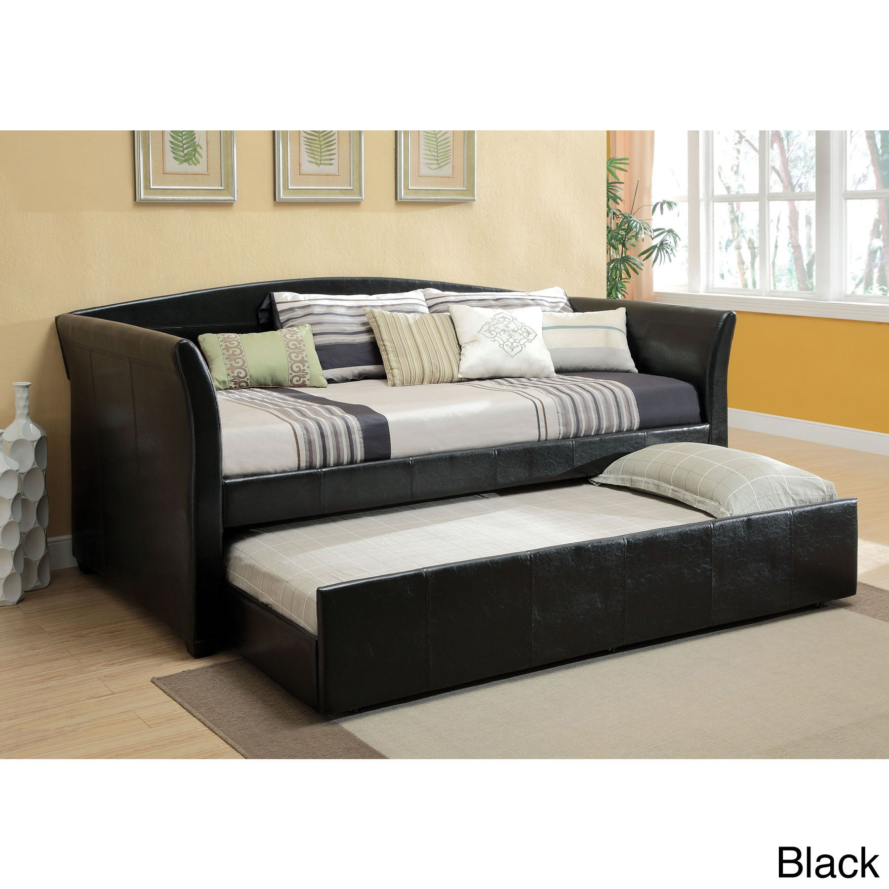 Overstock Daybeds With Trundle : Hanover contemporary style twin daybed with trundle