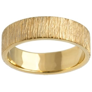 14k Yellow Gold Men's Comfort-fit Handmade Wedding Band