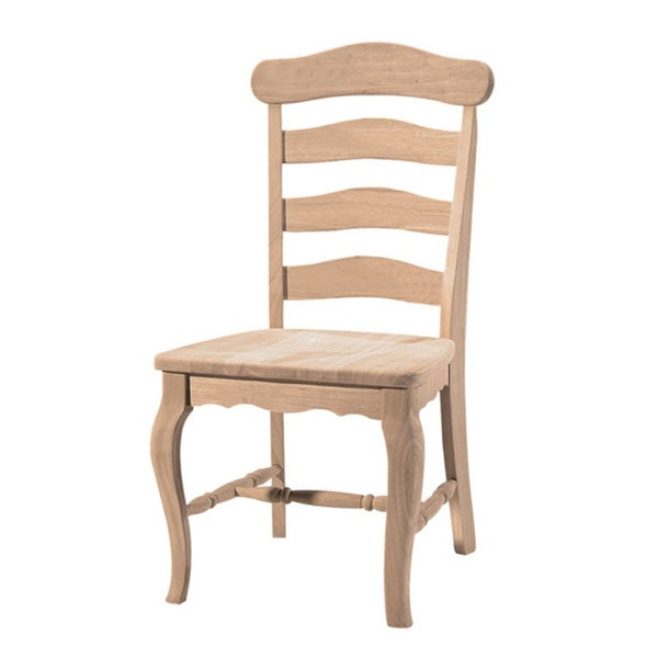 unfinished solid parawood country french dining chair set