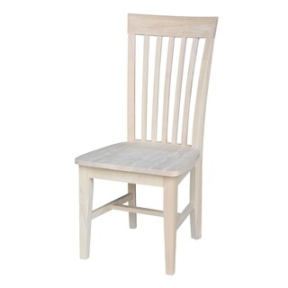 Unfinished Solid Parawood Tall Mission Dining Chair (Set of 2)