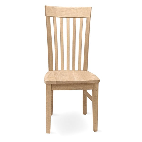 unfinished solid parawood tall mission dining chair set