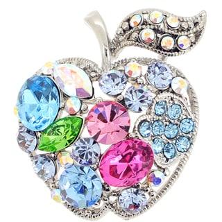 Teacher's Apple Crystal Pin Brooch