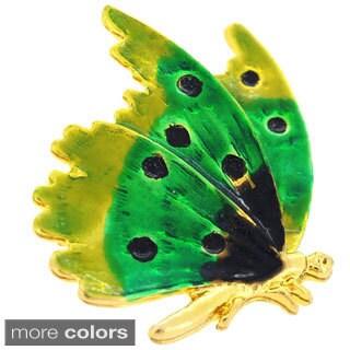 Enamel Flying Butterfly Pin Brooch