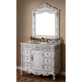 Eros Single Sink Bathroom Vanity with Mirror