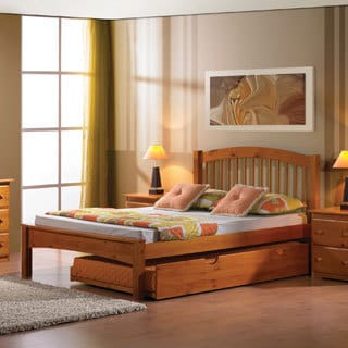 Donco Kids Arch Spindle Bed with Optional Twin Trundle