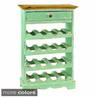 Auburn Turquoise Single-drawer Wine Cabinet