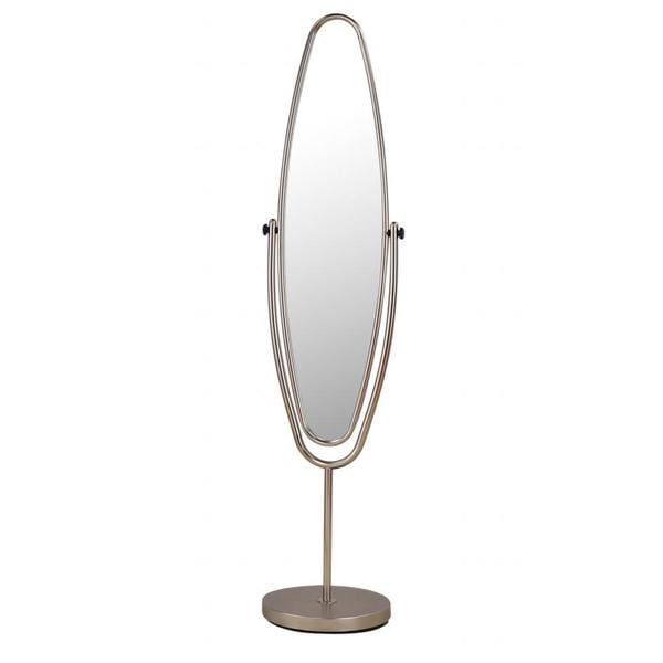 Reflex Satin Nickel Standing Mirror