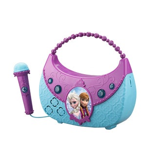 Disney's Frozen Cool Tunes Sing Along Boombox with Voice Changer, Built-In Songs - Connects to Any Audio Device