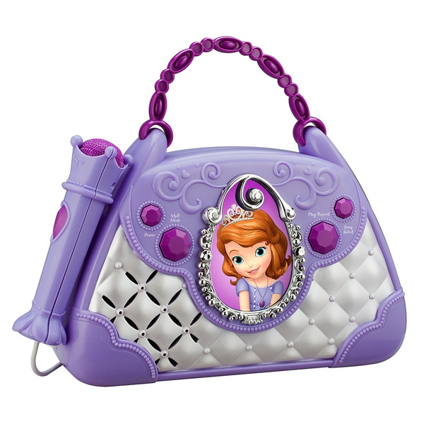 Sofia the 1st Sing Along Boombox with Voice Changer, Built-In Songs - Connects to Any Audio Device