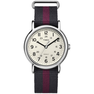 Timex Men's T2P4699J Weekender Two-Tone Nylon Strap Watch