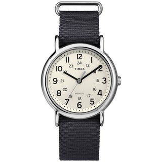 Timex Men's T2P4679J Weekender Slate Slip-thru Nylon Strap Watch