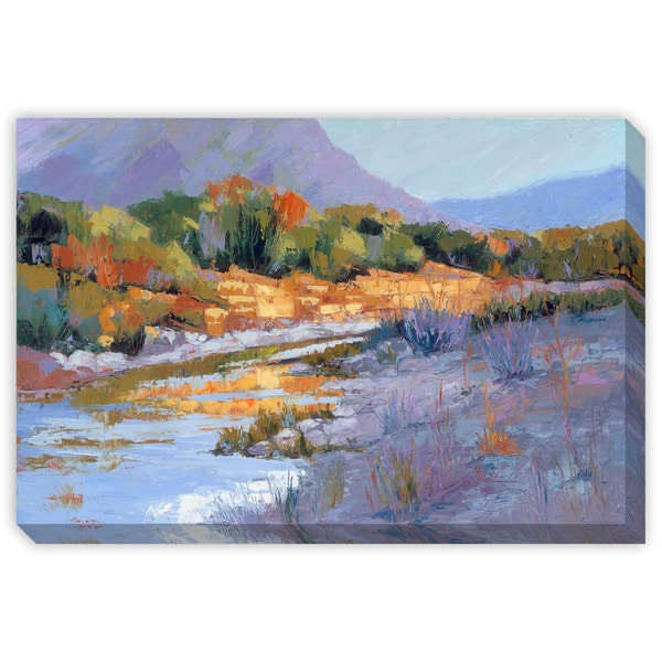 Maxine Price's 'River Valley at Sunset' Canvas Gallery Wrap Art