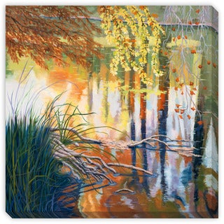 Maxine Price's 'Reflections on the Guadalupe' Canvas Gallery Wrap Art