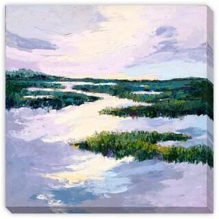 Gallery Direct Maxine Price's 'Purple Meadows II' Canvas Gallery Wrap Art