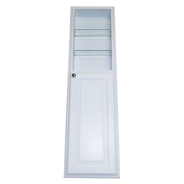 54 Inch Recessed White Plantation Pantry Storage Cabinet With 24 Inch Shelf 16473716