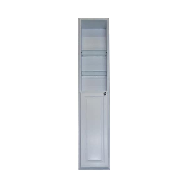 60 Inch Recessed White Plantation Pantry Storage Cabinet With 30 Inch Shelf 16473719