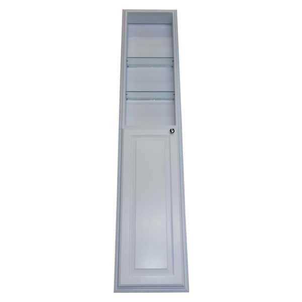 72 Inch Recessed White Plantation Pantry Storage Cabinet