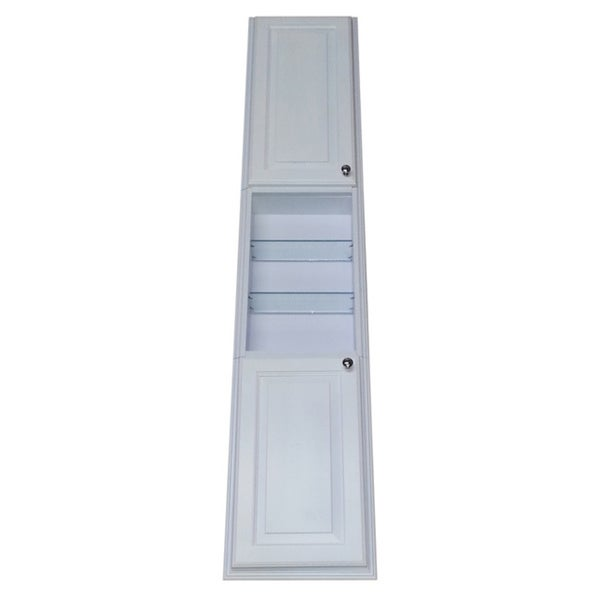 78 Inch Recessed White Plantation Pantry Storage Cabinet With 24 Inch