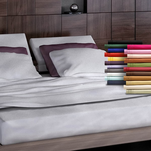 Clara Clark Premier 1800 Series Bed Sheet Set Queen Size in Gray (As Is Item)