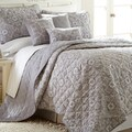Grey Geometric 6-piece Quilt Set