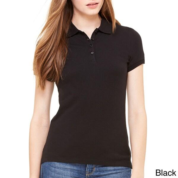 Bella Women's Mini Pique Short-sleeve Polo 13703540