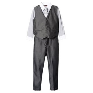 James Morgan Toddler Boys Grey 4-piece Vested Set