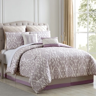 Azlin Floral Damask 8-piece Comforter Set