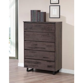 Live Edge Rustic Ash 5-drawer Chest