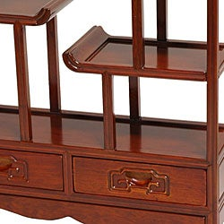 Hand-crafted Oriental Netsuke 20-inch Wooden Display Stand (China)