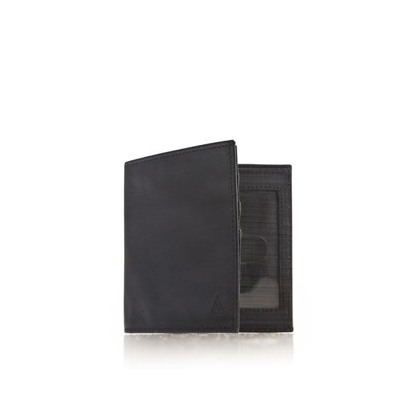 ALLETT Black Leather KeepSafe RFID Bi-fold Security ID Wallet