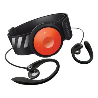 GoGear 4GB MP3 player with arm band (black/orange)