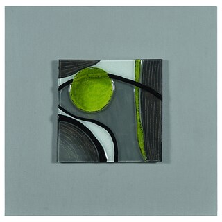 Olivia 'Motion II' Hand-painted Molded Glass Canvas Art