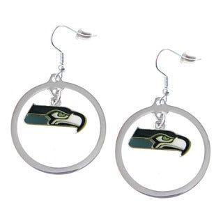 NFL Seattle Seahawks Hoop Charm Earrings
