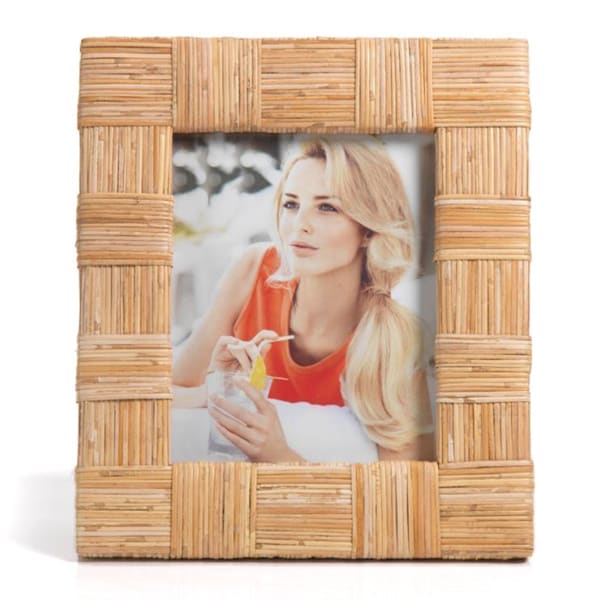 Large Natural Caneskin Photo Frame