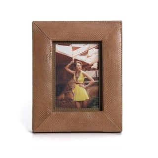 Snakeskin Leather X-cut Photo Frame