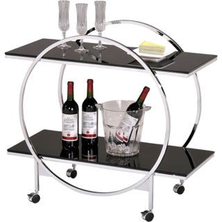 Infinity Tempered Glass Two-tier Trolley