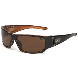 Coleman 'Grizzly' Shiny Dark Brown Polarized Sport Sunglasses