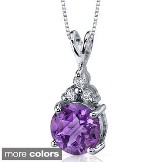 Oravo Sterling Silver Prong-set Gemstone Pendant