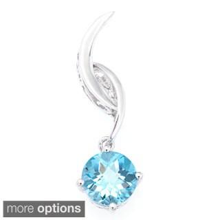 Oravo Sterling Silver Round Gemstone Pendant Necklace
