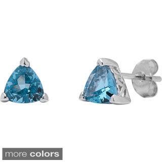 Oravo Sterling Silver Trillion-cut Earrings