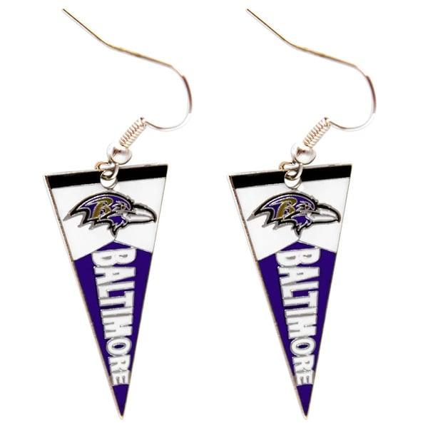 NFL Baltimore Ravens Pennant Earrings
