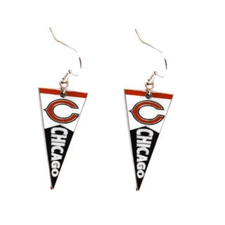 NFL Chicago Bears Pennant Earrings